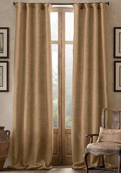 ruffled burlap & homespun shower curtain extra long country