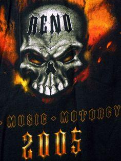 Street Vibrations Reno 2005 T-Shirt Metal Music Motorcycles Flame Skulls XL #FruitoftheLoomHeavy #LongSleeve