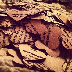 Paper Hearts Made From Love Stories or by CoffeeWiththeBride, $10.00