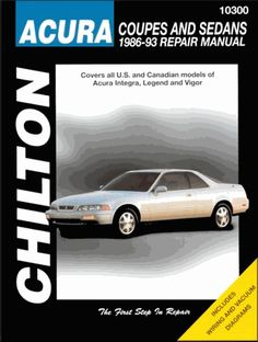 Acura tl repair manual 1999 2008 acura car repair service do it yourself repair and service manual for acura integra legend and vigor solutioingenieria Image collections