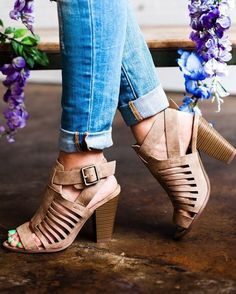 **** Get your first Stitch Fix delivered today and start receiving shoes just like this!  Want a pair just like these.  Gorgeous nude stacked heel with beautiful cut out detail.  Would rock these with everything!! Stitch Fix Spring, Stitch Fix Summer, Stitch Fix Fall 2016 2017. Stitch Fix Spring Summer Fall Fashion. #StitchFix #Affiliate #StitchFixInfluencer