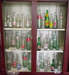 A few of our soda bottle collection