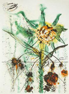 Salvador Dalí; 'Sun Goddess Flower', 1972