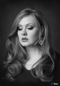 Pencil Drawing of Adele.