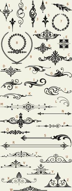 Letterhead Fonts / LHF Americana Ornaments / Golden Era Studios by IndulgenceLady102