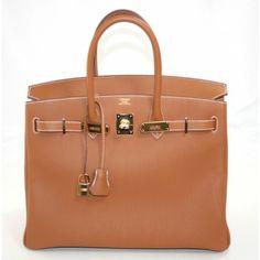 Hermes 35 cm Gold Togo with Gold Hardware Birkin Bag