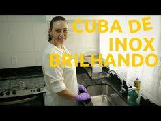 Dicas da Lucy CUBA DE INOX BRILHANDO – COMO LAVAR A CUBA DE INOX
