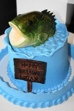 Cakes for the MAN on Pinterest | Shirt Cake, Bass Fish Cake and ...