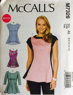 McCall's M7326 Misses'/Miss Petite Tops Pattern by tealducktoo