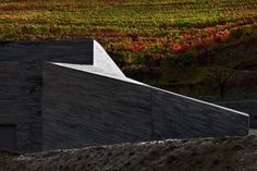 THE WINERY Gravity Winery Peso da Régua - Portugal The proposal of enlargement of the Quinta do Vallado Winery and Hotel, conciliates the need of the extension of the existing cellar with the proper integration in the landscape. The intervention aims. Portugal, Douro Valley, Industrial Architecture, Port Wine, Brewery, Fields, Facade, Vineyard, 1