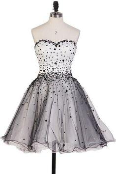 Classy Pretty Sweetheart Short Beading Cute Homecoming Dresses K155
