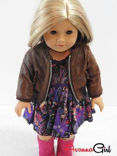 American Girl Doll Coat Handmade Faux Leather Bomber Jacket – Avanna Girl