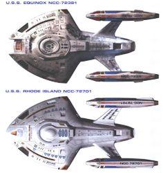 Comparison between U.S.S. Equinox, NCC-32781, and U.S.S. Rhode Island, NCC-72701