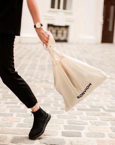Bonvion tote bag: cotton, logo printed canvas tote bag with double top handles. Cotton Logo, Canvas Tote Bags, Packaging, Canvas Prints, Printed, Shopping, Fashion, Marriage, Moda