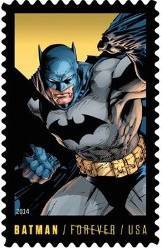 Postal Service, in collaboration with Warner Bros. Consumer Products and DC Entertainment, is proud to announce that Batman, one of DC Comics' most beloved characters, will be immortalized in a Limited Edition Forever postage stamp collection. I Am Batman, Batman Art, Postage Stamp Design, Postage Stamps, Comic Kunst, Marvel, Arte Pop, Stamp Collecting, Batgirl