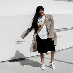 「White, black and something in between. Stylist and model @alealimay sets the tone with #Superstar.  Alealie May is an #OriginalSuperstar」