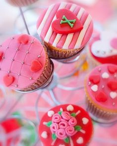 Immensely lovely red, white and pink cupcakes that are perfect for Valentine's Day, a wedding or anniversary. Valentine Day Cupcakes, Pink Cupcakes, Valentines Day Treats, Baking Cupcakes, Yummy Cupcakes, Cupcake Cookies, Heart Cupcakes, Mocha Cupcakes, Gourmet Cupcakes