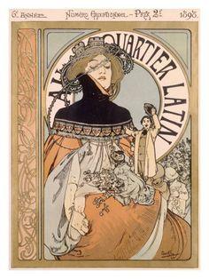 Art Nouveau poster by Alphonse Mucha