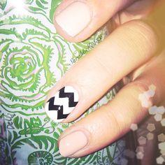 One chevron nail.