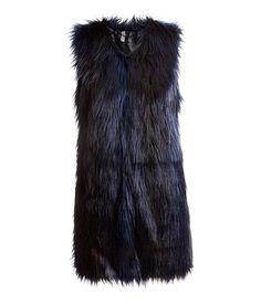 HM Divided faux fur vest Size 38 #HM