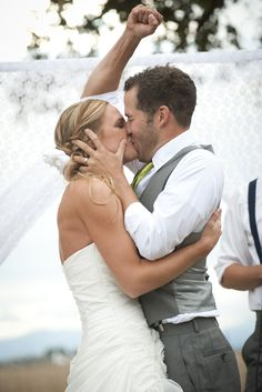 Cutest picture ever of the bride and groom! - Remembrance Photography