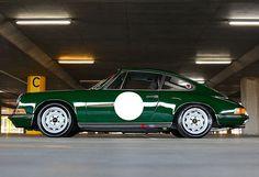 British racing green on German racing auto