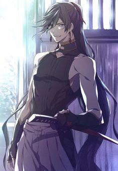 Izumi no Kami Kanesada - Touken Ranbu - Image - Zerochan Anime Image Board Anime Sexy, Badass Anime, Anime Sensual, Hot Anime Boy, Cute Anime Guys, Anime Boys, Anime Boy Hair, Chica Anime Manga, Manga Boy