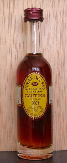 Cognac Gautier XO Pinar del Río. #Cognac #Alcohol #Francia #Liqueurs