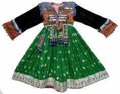 antik Orient Nomaden Tracht afghan kleid Tribaldance afghanistan Kuchi dress N-5