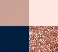 Baby Blue Weddings, Blush Pink Weddings, Rose Gold Theme, Rose Gold Color, Wedding Color Schemes, Wedding Colors, Rose Gold Glitter, Gold Sequins, Navy Blue And Gold Wedding