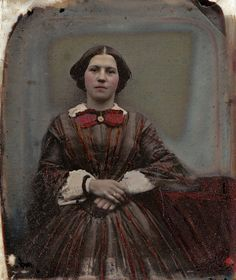 Red as the Rose, Handtinted English Ambrotype, Circa 1855 | Flickr - Photo Sharing!