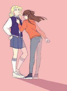 little witch academia Little Wich Academia, Cartoon Ships, Yuri Anime, Wattpad, Shoujo, Overwatch, Lesbian, The Darkest, Diana