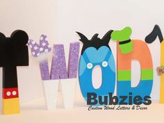 Mickey Mouse Club House Free Standing Custom Wood by Bubzies