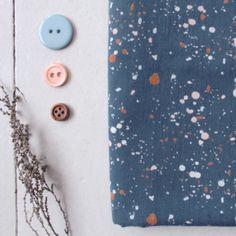 Atelier Brunette Terrazzo Night Cotton Gauze Fabric - Guthrie & Ghani
