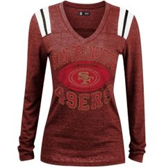 Women's Washington Redskins Nike Gray Stadium Football V-Neck Performance T-Shirt