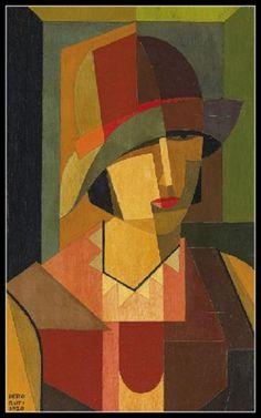 adhemarpo:  Portrait de femme - 1920, - Emilio Pettoruti. Argentin (1892 - 1971)