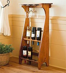 Wine Rack with glass shelf. When deciding where to put your new wine rack keep in mind the temperature and the exposure to light. Just inside this sunny window is not a good idea.