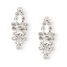 Dainty Rhinestone Marquis and Crystal Drop Earrings