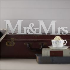 Mr & Mrs Freestanding Wooden Sign – Vintage Affair Our Mr & Mrs wooden wedding sign is great to use as a wedding decoration or alternatively as a gift for the happy couple! Width x Height 10 x Depth Wedding Chair Signs, Wooden Wedding Signs, Wedding Chairs, Wooden Signs, Wedding Table, Wedding Receptions, Mr Mrs, Page Decoration, Mr And Mrs Wedding
