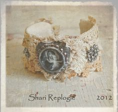 Vintage One of a Kind  Altered  Lace Cuff Bracelet. $65,00, via Etsy.