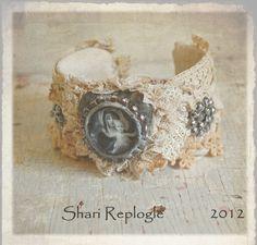 Vintage One of a Kind  Altered  Lace Cuff Bracelet. $65,00, via Etsy.