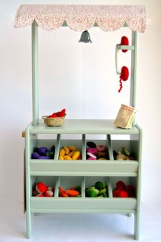 Wooden toy market. #woodentoy #woodenplaymarket #wooden play stall #macarenabilbao
