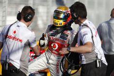 Lewis Hamilton after qualification - GP Australia 17th March 2012 #formula1 #f1 #australia
