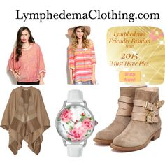 Lymphedemaclothing- apparel by styleq on Polyvore featuring Burberry, Rupert Sanderson and Betsey Johnson