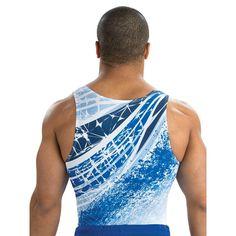 Men's Blueprint Gymnastics Shirt from GK Elite Boys Gymnastics, Gymnastics Shirts, Gymnastics Competition, Gymnastics Workout, Gymnastics Leotards, Boys Leotard, Gk Leotards, Wrestling Costumes, Male Gymnast