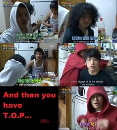 TOP in charge of rap...lol