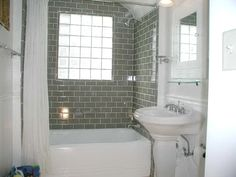 Brilliant Bathroom Gray Subway Tile Best Glass Ideas On