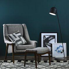 Flume Armchair & Footstool Art @opusdesignco opusdesign.com.au/