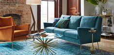 turquoise sofa, acce