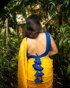 Get it custom made for you with myTailor ( my Tailor ) Designer Blouses Online made easy , just WhatsApp 8686692422 Blouse Back Neck Designs, Fancy Blouse Designs, Saree Blouse Designs, Blouse Patterns, Blouse Designs Catalogue, Lehenga, Stylish Blouse Design, Sexy Blouse, Sleeveless Blouse